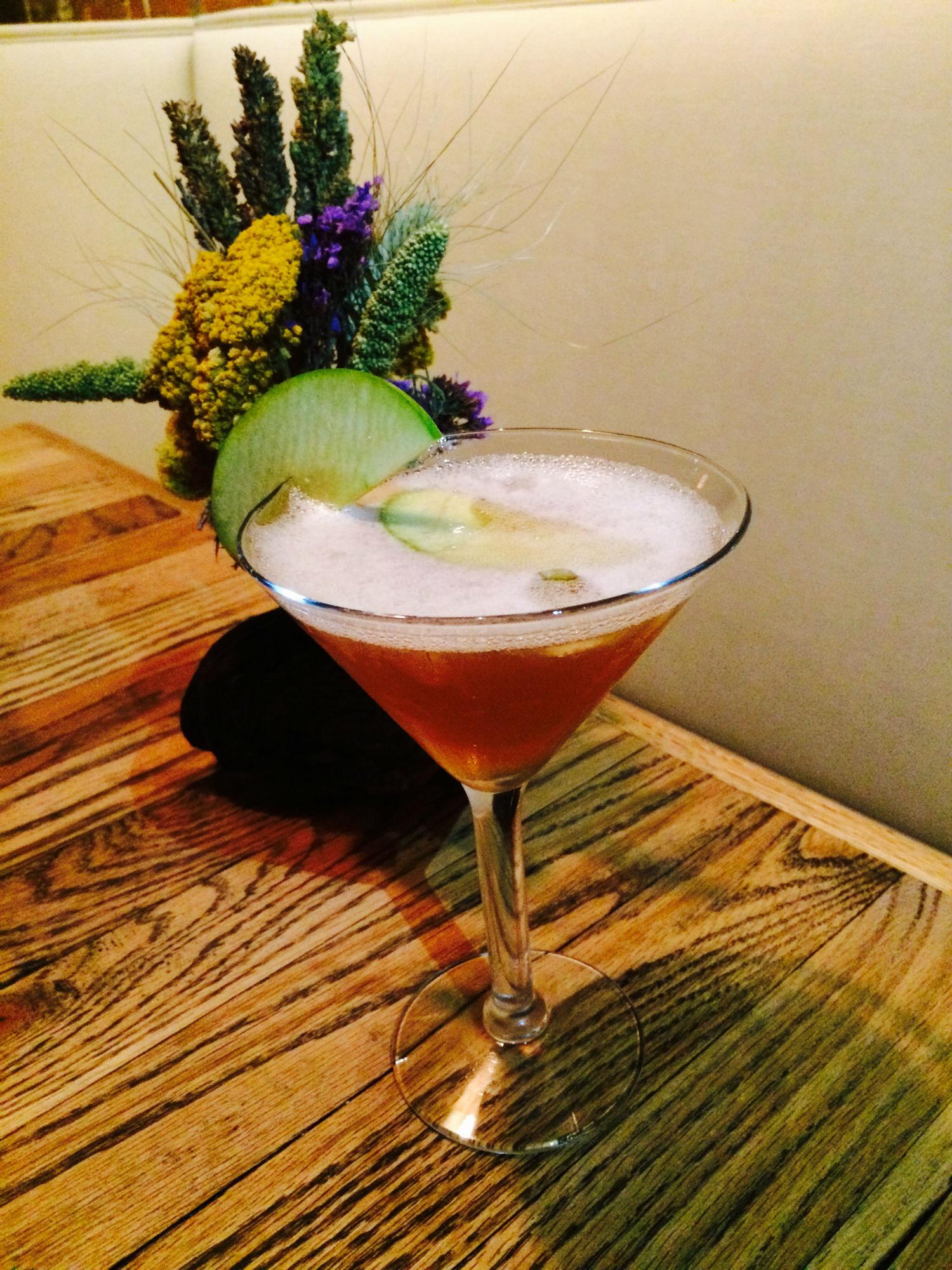 Granny Smith Apple Infused Martini